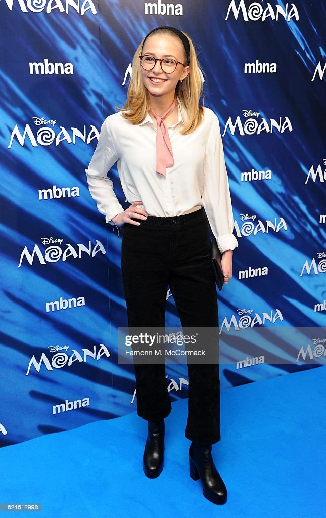 Sophie Simnet attends the UK Gala screening of 'MOANA' at BAFTA on November 20, 2016 in London, England.