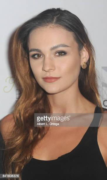 Sophie Skelton arrives for the Screening Of 'The Vault' held at Ahrya Fine Arts Movie Theater on August 31 2017 in Beverly Hills California