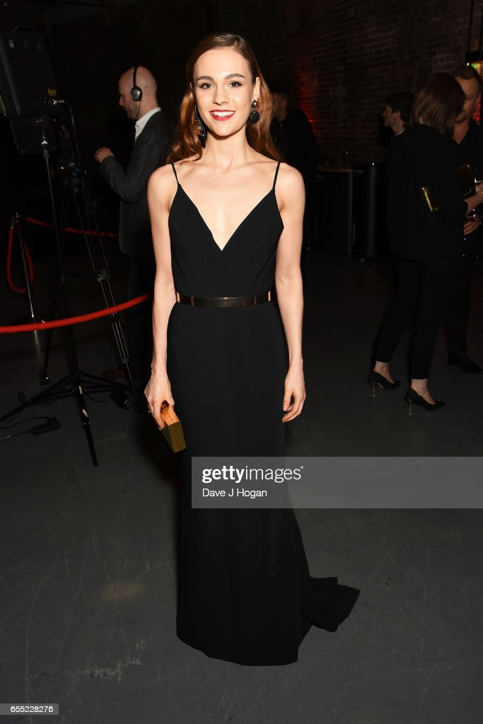 Sophie Skelton attends the THREE Empire awards at The Roundhouse on March 19, 2017 in London, England.