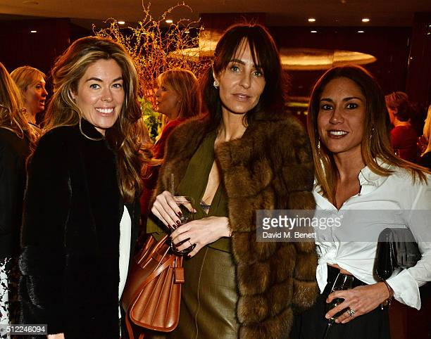 Sophie Stanbury Julie Brangstrup and Lily Hodges attend a Ladies' Winter Lunch in aid of Child Bereavement UK at The Bulgari Hotel on February 25...
