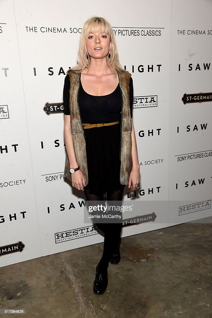 Sophie Sumner attends The Cinema Society With Hestia StGermain Host a Screening of Sony Pictures Classics' 'I Saw the Light' at Metrograph on March...