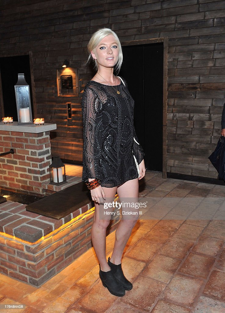 Sophie Sumner attends the Downtown Calvin Klein with The Cinema Society screening of IFC Films' 'Ain't Them Bodies Saints' after party at Refinery Rooftop on August 13, 2013 in New York City.