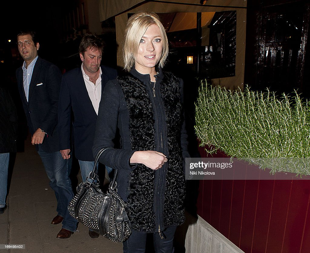 Sophie Sumner sighting at Lulu Restaurant, Mayfair on May 25, 2013 in London, England.