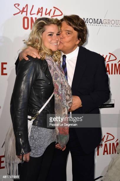 Sophie Tapie and Bernard Tapie attend 'Salaud On T'Aime' Paris Premiere at Cinema UGC Normandie on March 31 2014 in Paris France