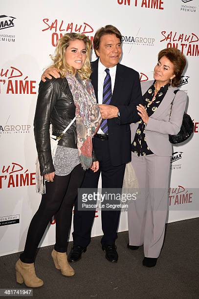 Sophie Tapie Bernard Tapie and Dominique Tapie attend 'Salaud On T'Aime' Paris Premiere at Cinema UGC Normandie on March 31 2014 in Paris France