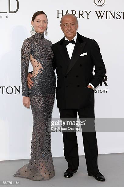 Sophie Taylor and de Grisogono Founder President Fawaz Gruosi attend the amfAR's 23rd Cinema Against AIDS Gala at Hotel du CapEdenRoc on May 19 2016...