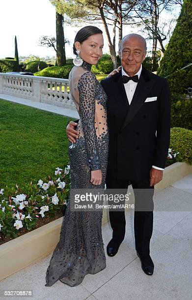 Sophie Taylor and Fawaz Gruosi attend amfAR's 23rd Cinema Against AIDS Gala at Hotel du CapEdenRoc on May 19 2016 in Cap d'Antibes France