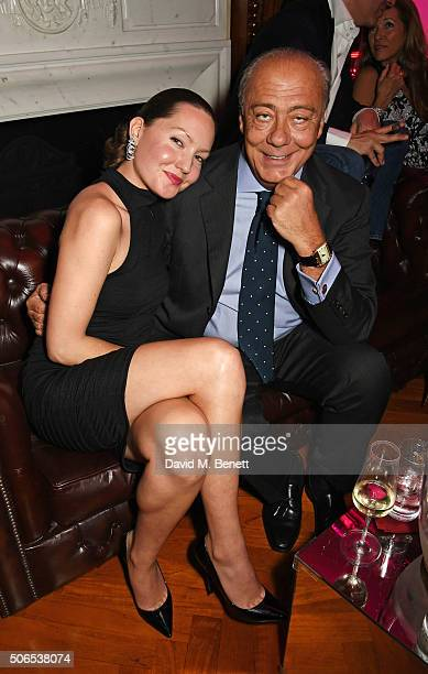 Sophie Taylor and Fawaz Gruosi attend Lisa Tchenguiz's birthday party on January 23 2016 in London England