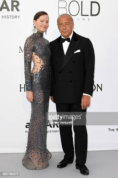 Sophie Taylor and Fawaz Gruosi attend the amfAR's 23rd Cinema Against AIDS Gala at Hotel du CapEdenRoc on May 19 2016 in Cap d'Antibes France