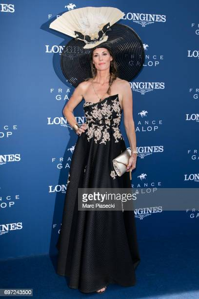 Sophie Thalmann attends the 'Prix de Diane Longines 2017' on June 18 2017 in Chantilly France