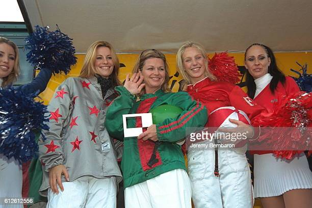 Sophie Thalmann Jeane Manson and Olivia Adriaco after the race