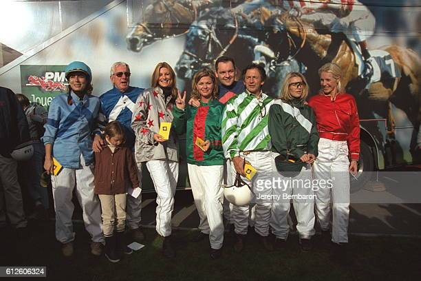 Sophie Thalmann Jeane Manson Olivia Adriaco with the other participants of the Epona Festival 2001