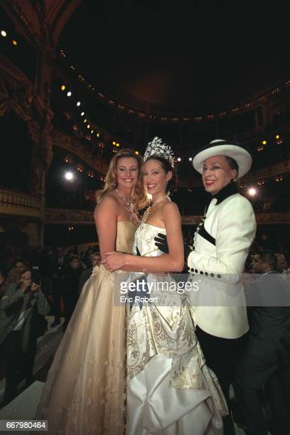 Sophie Thalmann Miss France 98 Mareva Galantier Miss France 99 and Genevieve de Fontenay