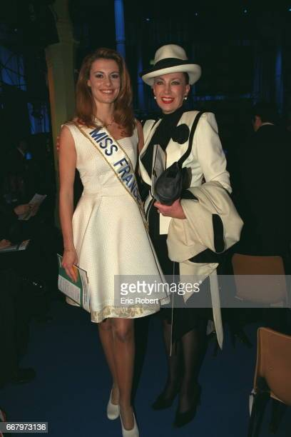 Sophie Thalmann Miss France and Genevieve de Fontenay at the Baltard pavillon