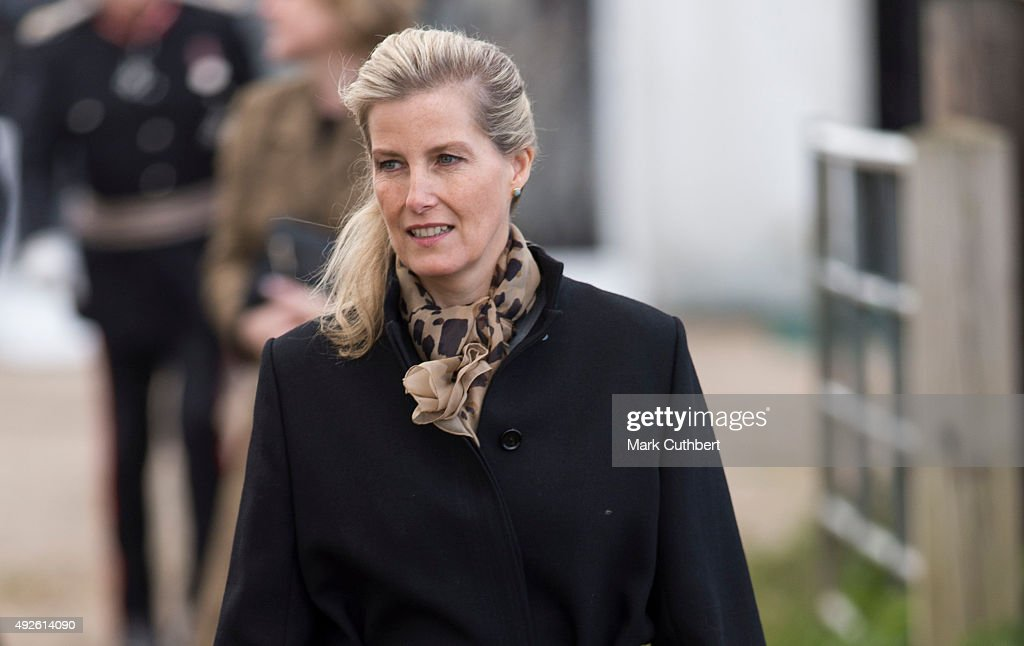 Sophie, The Countess Of Wessex during a visit to Remus Memorial Horse Sanctuary on October 14, 2015 in Ingatestone, Essex.