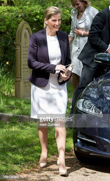 Sophie The Countess of Wessex opens the new extension at St John the Baptist Church Church Lane on May 9 2013 in Bisley England