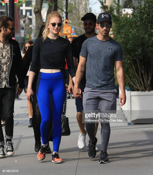 Sophie Turner and Joe Jonas are seen on April 29 2017 in New York City