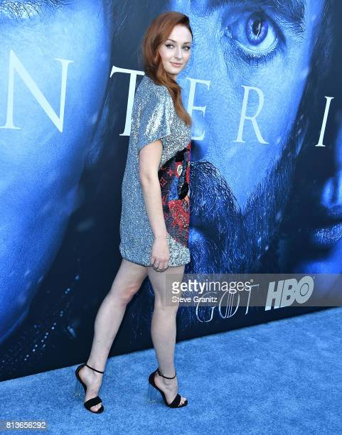Sophie Turner arrives at the Premiere Of HBO's 'Game Of Thrones' Season 7 at Walt Disney Concert Hall on July 12 2017 in Los Angeles California