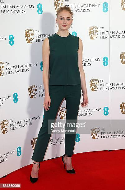 Sophie Turner attends as the nominations for the EE British Academy Film Awards are announced on January 10 2017 in London United Kingdom