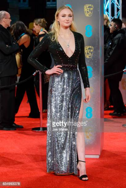 Sophie Turner attends the 70th EE British Academy Film Awards at Royal Albert Hall on February 12 2017 in London England