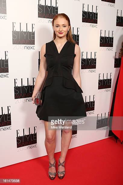 Sophie Turner attends the Elle Style Awards 2013 at The Savoy Hotel on February 11 2013 in London England
