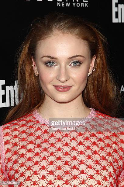 Sophie Turner attends the Entertainment Weekly's Celebration Honoring The 2016 SAG Awards Nominees held at Chateau Marmont on January 29 2016 in Los...
