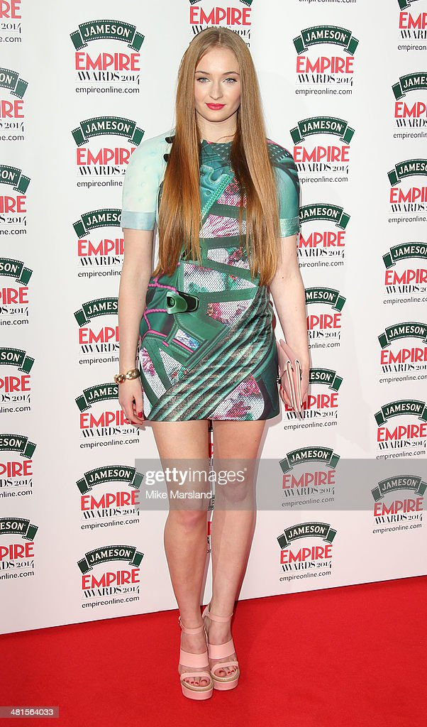 Sophie Turner attends the Jameson Empire Film Awards at Grosvenor House, on March 30, 2014 in London, England.