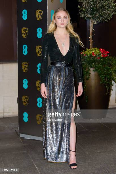 Sophie Turner attends the official after party for the 70th EE British Academy Film Awards at The Grosvenor House Hotel on February 12 2017 in London...