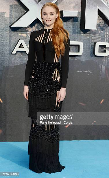 Sophie Turner attends the premiere of X Men Apocalypse at BFI IMAX on May 9 2016 in London England