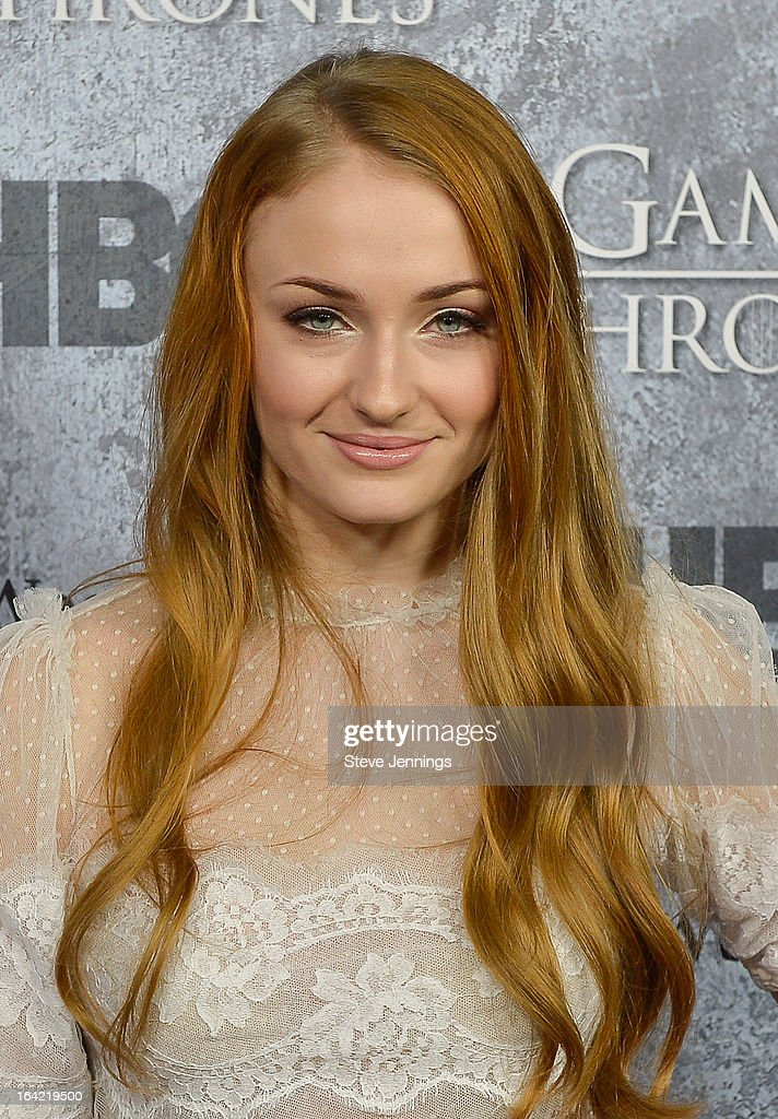 Sophie Turner attends the Season 3 Premiere of HBO's 'Game Of Thrones' at Palace Of Fine Arts Theater on March 20, 2013 in San Francisco, California.