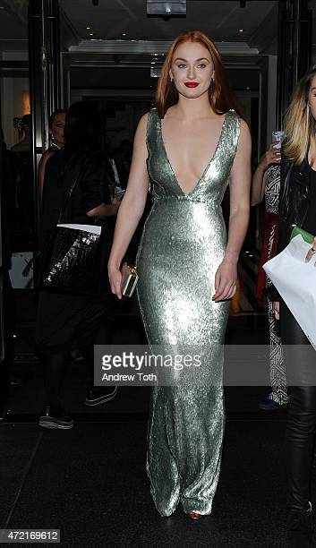Sophie Turner departs The Mark Hotel for the Met Gala at the Metropolitan Museum of Art on May 4 2015 in New York City