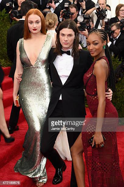 Sophie Turner James Bay and Jourdan Dunn attend the 'China Through The Looking Glass' Costume Institute Benefit Gala at the Metropolitan Museum of...