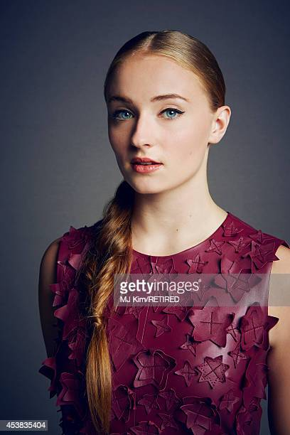 Sophie Turner poses for a portrait at the Getty Images Portrait Studio powered by Samsung Galaxy at ComicCon International 2014 on July 24 2014 in...