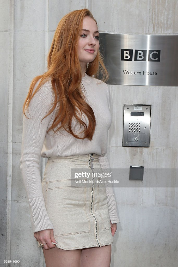 Sophie Turner seen at BBC Radio 2 on May 06, 2016 in London, England.