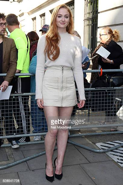 Sophie Turner seen at BBC Radio 2 on May 06 2016 in London England