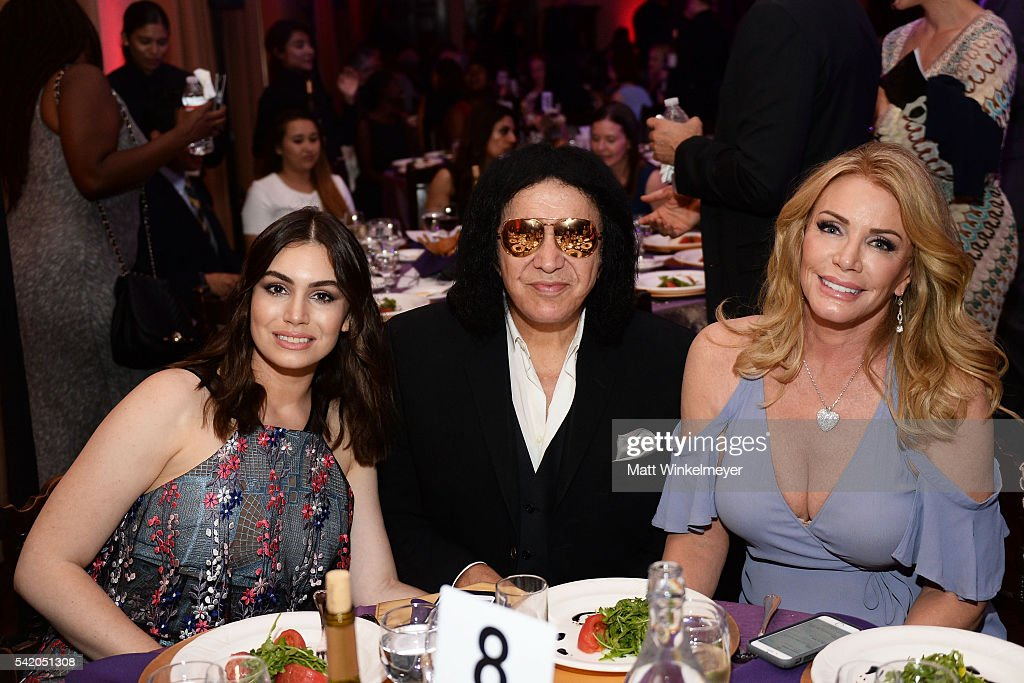 Sophie TweedSimmons Gene Simmons and Shannon TweedSimmons attend the Women of Influence Awards at The Wilshire Ebell Theatre on June 21 2016 in Los...