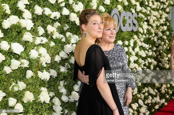 Sophie Von Haselberg and Better Midler attend the 2017 Tony Awards at Radio City Music Hall on June 11 2017 in New York City