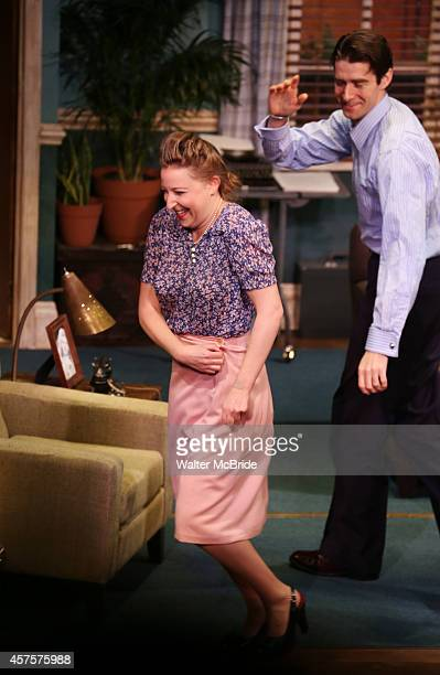 Sophie von Haselberg and Drew Gehling during the OffBroadway opening Night Performance Curtain Call for 'Billy Ray' at the Vineyard Theatre on...