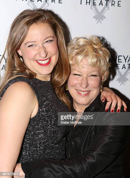 Sophie von Haselberg and mom Bette Midler attend the OffBroadway opening Night Performance After Party for 'Billy Ray' at the Vineyard Theatre on...