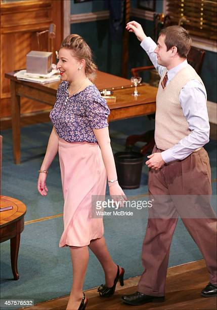 Sophie von Haselberg and Vincent Kartheirser during the OffBroadway opening Night Performance Curtain Call for 'Billy Ray' at the Vineyard Theatre on...