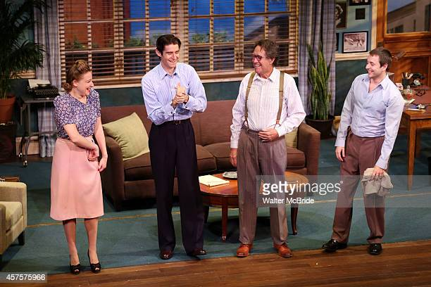 Sophie von Haselberg Drew Gehling Larry Pine and Vincent Kartheirser during the OffBroadway opening Night Performance Curtain Call for 'Billy Ray' at...
