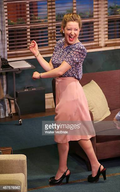 Sophie von Haselberg during the OffBroadway opening Night Performance Curtain Call for 'Billy Ray' at the Vineyard Theatre on October 20 2014 in New...