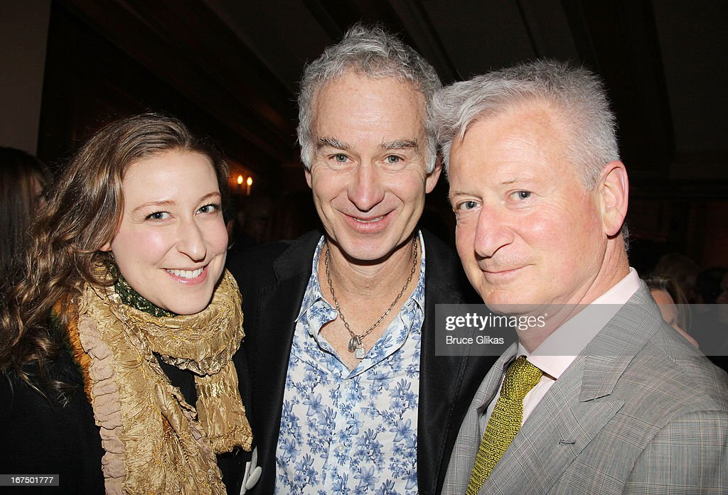 Sophie von Haselberg, John McEnroe and Martin von Haselberg attends the 'I'll Eat You Last: A Chat With Sue Mengers' Broadway opening night at The Booth Theater on April 24, 2013 in New York City.