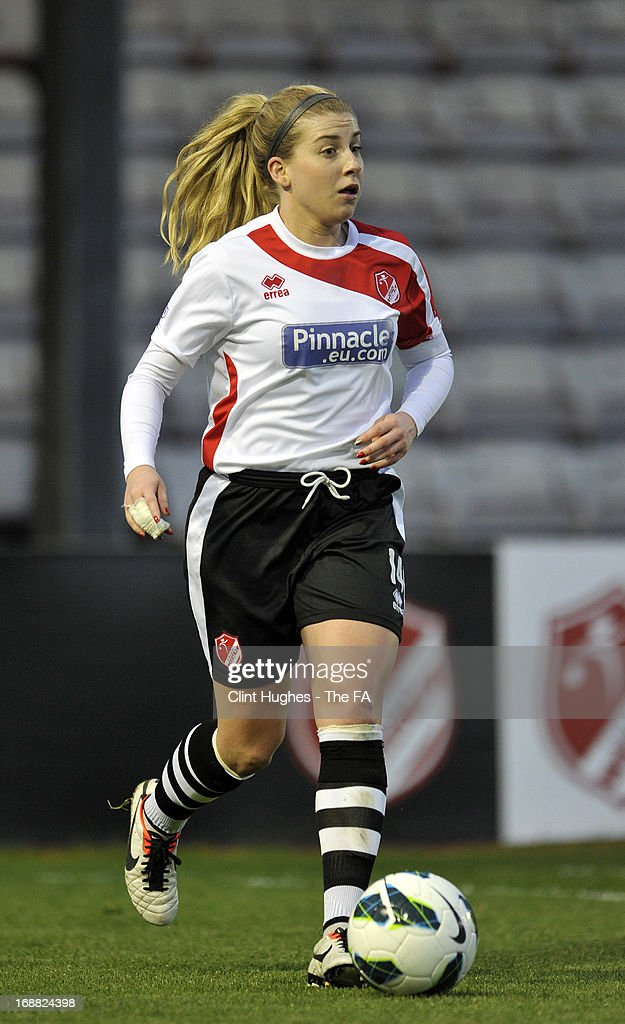 Sophie Walton of Lincoln Ladies during the FA WSL match between Lincoln Ladies FC and Arsenal Ladies FC at the Sincil Bank Stadium on May 15, 2013 in Lincoln, England