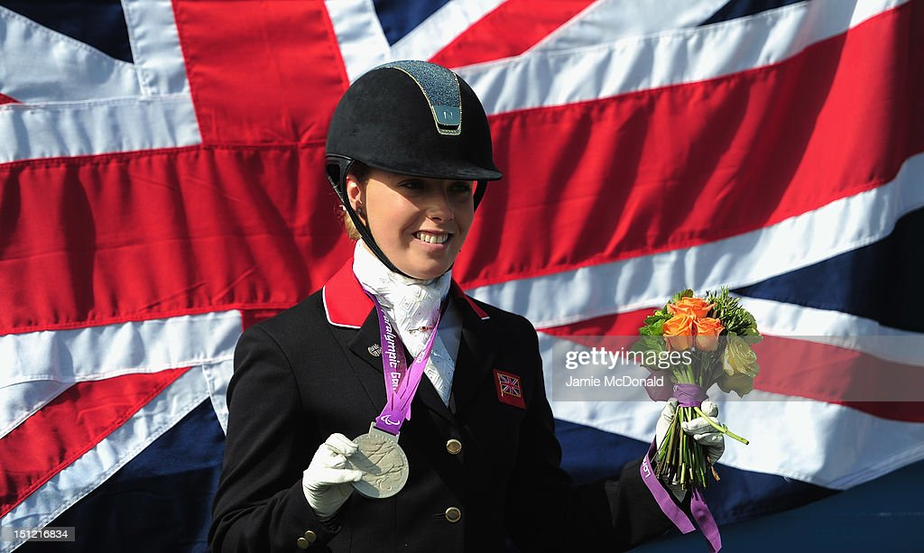 Sophie Wells of Great Britain wins Silver during the Equestrian Dressage Individual Freestyle Test - Grade IV on day 6 of the London 2012 Paralympic Games at Greenwich Park on September 4, 2012 in London, England.