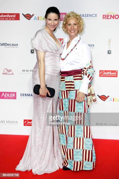Sophie Wepper and Bettina Landgrafe attend the 'Goldene Bild der Frau' award at Hamburg Cruise Center on October 21 2017 in Hamburg Germany