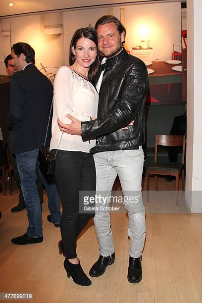 Sophie Wepper and boyfriend David Meister attend the 'Art Food' cocktail at Ella restaurant at Lenbachhaus on March 10 2014 in Munich Germany
