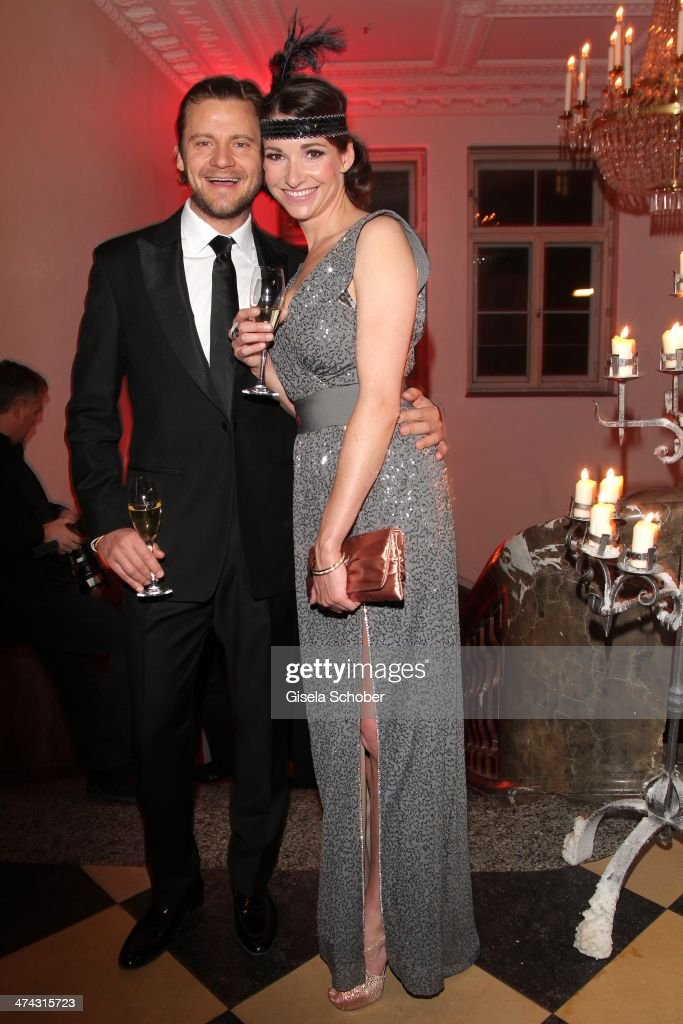 Sophie Wepper and boyfriend David Meister attend the Dresswestern party ( by Dresscoded and Ingolstadt Village) at Rilano No 6 on February 22, 2014 in Munich, Germany.