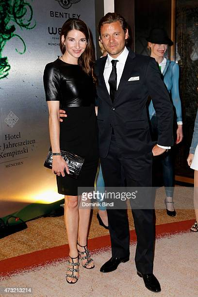 Sophie Wepper and David Meister during the Genlemen Style Night at Hotel Vier Jahreszeiten on May 13 2015 in Munich Germany
