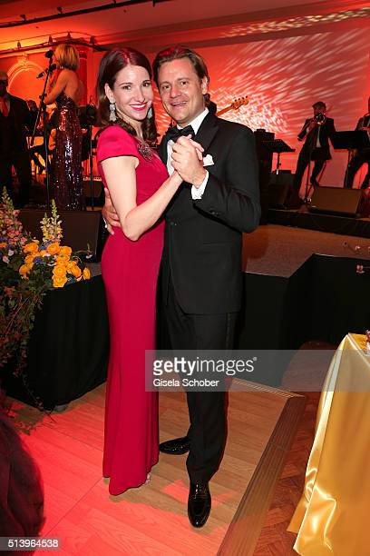 Sophie Wepper and her fiance David Meister during the Spring Ball Frankfurt 2016 on March 5 2016 at Palmengarten in Frankfurt am Main Germany